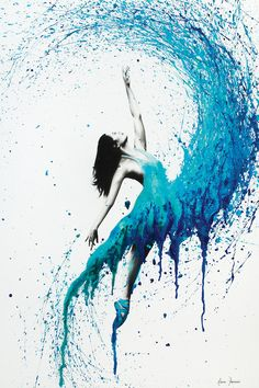 In The Waves by Ashvin Harrison is printed with premium inks for brilliant color and then hand-stretched over museum quality stretcher bars. Money Back Guarantee AND Free Return Shipping. Ballet Painting, Dance Paintings, Ballerina Art, Ballet Art, Art Drawings Sketches, Ballet Drawings, Canvas Artwork, Painting Techniques, Creative Art