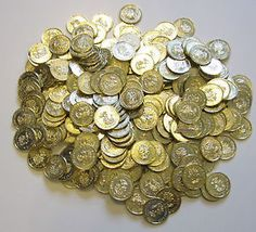 300-PLASTIC-GOLD-COINS-PIRATE-TREASURE-CHEST-PLAY-MONEY-BIRTHDAY-PARTY-FAVORS