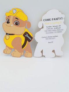 Paw Patrol Invitations Paw Patrol Birthday by CreativeCoupleDnT  #pawpatrol #chase #pawpatrolparty #pawpatroldecor #pawpatrolinvitations #pawpatrolbirthday #pawpatrolparty