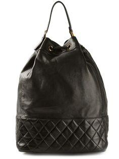 CHANEL VINTAGE drawstring duffel bag
