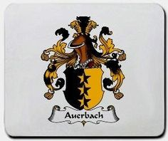 Auerbach Family Shield / Coat of Arms Mouse Pad