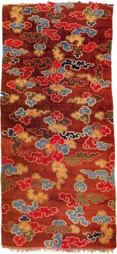 Swirling cloud rug, Tibet.  Of Wool And Loom by Kesang Tashi