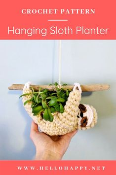 Sloth Planter Crochet Pattern — HELLOhappy Sloth Planter Crochet Pattern — HELLOhappy Related Easy Craft Ideas For Kids To Make At HomeExamine this crucial illustration as well as check into the provided tips on Yog. Crochet Home, Love Crochet, Crochet Gifts, Learn To Crochet, Crochet Flowers, Fabric Flowers, Crochet Sloth, Crochet Amigurumi, Diy Bird Feeder