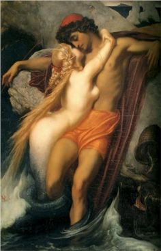 Frederic Leighton - The Fisherman and the Syren [1857]