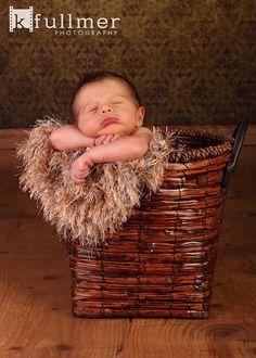 Brown Faux Fur Photo Prop Blanket. Photography Prop by BabyBirdz