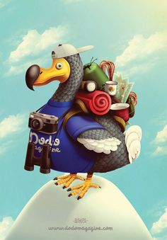 Poster for DODO MAGAZINE! by Juan Carlos Paz -BAKEA-, via Behance