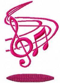 treble clef free machine embroidery design 2. Machine embroidery design. www.embroideres.com