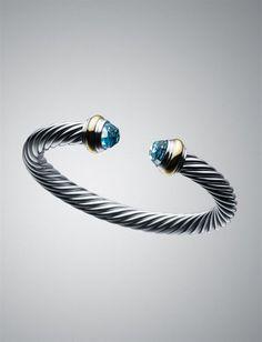 Classic David Yurman  - Blue Topaz Bracelet.