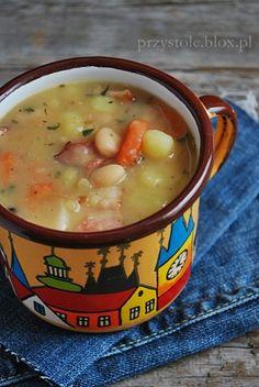 Zupa fasolowa Soup Recipes, Vegan Recipes, Dinner Recipes, Cooking Recipes, Great Recipes, Vegan Runner, Vegan Gains, Czech Recipes, Polish Recipes