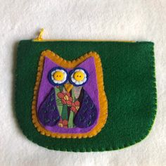 Excited to share this item from my #etsy shop: Owl coin purse, coin pouch, small pouch, coin purse, card wallet, felt wallet Felt Wallet, Card Wallet, Felt Owls, Beautiful Owl, Red Tigers Eye, Coin Purse, Etsy Shop, Purses, Sewing