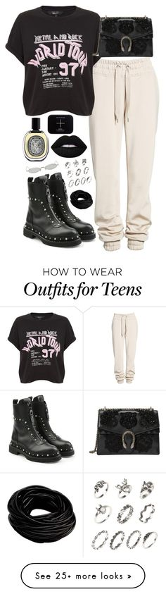 """""""Don't you die, unjustified."""" by littlefruit18 on Polyvore featuring Ivy Park, Versace, Diptyque, Gentle Monster and Gucci"""