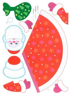 Дед Мороз. Шаблон Christmas Makes, Kids Christmas, Activity Sheets For Kids, Christmas Paper Crafts, Decoupage Paper, Paper Toys, Vintage Paper, Pattern Paper, Diy And Crafts