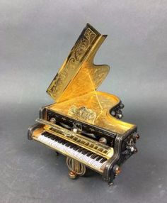 Get in on the auction — bid LIVE online on art, antiques, jewelry and collectibles. Find online auctions from around the world at LiveAuctioneers. Music Boxes, Grand Piano, Madison Square, Automata, Piano Music, Auction, Asian, Art, Art Background