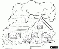 Colorear La casita de la abuela