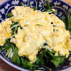 作り方は簡単ですが、タルタルソースに混ぜる材料を変えて好みのバリエーションを… - 15件のもぐもぐ - タルタルソースの水菜サラダ by heitabureaus