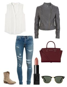 """""""Untitled #1224"""" by kayaxrose ❤ liked on Polyvore featuring Yves Saint Laurent, Frye, Rebecca Taylor, MICHAEL Michael Kors, NARS Cosmetics and Ray-Ban"""