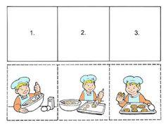Önce şimdi sonra Pro Šíšu: dubna 2011 Sequencing Worksheets, Story Sequencing, Kindergarten Worksheets, Worksheets For Kids, Preschool Learning Activities, Speech Therapy Activities, Preschool Lessons, Infant Activities, Sequencing Pictures