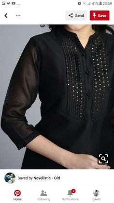 Ladies kurta designs new fashion for girls - Simple Craft Ideas Salwar Designs, Kurta Designs Women, Blouse Designs, Embroidery On Clothes, Embroidery Suits, Kurti Embroidery, Kurta Patterns, Modele Hijab, Kurti Styles