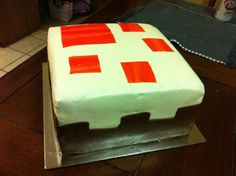 E is for EAT CAKE! A Mine Craft Inspired cake that is...