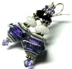 15 OFF SALE Lampwork Earrings Handmade Lampwork by SeeMyJewelry, $20.40