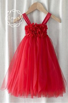 Scarlet Red Tutu Flower Girl Dress (Limited Edition)