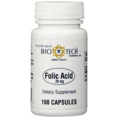 Bio-Tech-Folic-Acid-20-mg-100-Caps-344A-Clearance-Exp-3-17-IHI