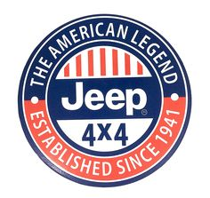 """Vintage Style """" Jeep - The American Legend, Established Since 1941 """" Round Metal Sign Cj Jeep, Jeep Truck, Jeep Wrangler, Jeep Mods, Chevy Trucks, Vintage Jeep, Vintage Metal Signs, Vintage Trucks, Jeep Willis"""