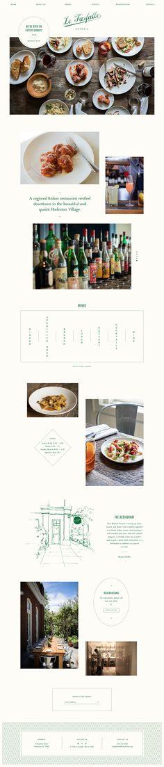 Le Farfalle restaurant website