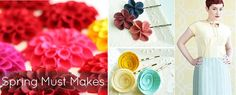 National Craft Month Kickoff: A Collection of Spring Must Makes ~~ As crafters and sewers, we emerge from our cozy winter projects and start looking for fresh, colorful crafts that will get us ready for warm weather ahead. So we've put together a collection of spunky spring crafts to kick off National Craft Month.    We bri…