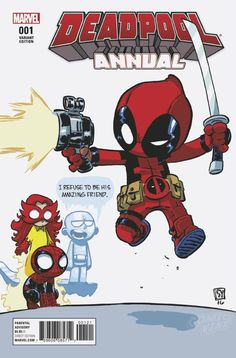 DEADPOOL ANNUAL #1 (2016) variant cover by Skottie Young