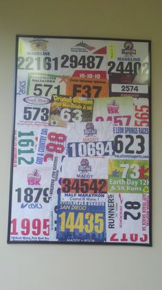 24 x 36 bib display...I wish my Dad kept these. I would love to make this for him.