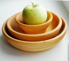 Купить Набор тарелки из кедра и солонка - кедр, изделия из кедра, посуда из кедра, чашки из дерева