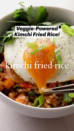Home Recipes, Lunch Recipes, Asian Recipes, Whole Food Recipes, Vegetarian Recipes, Cooking Recipes, Kimchi Fried Rice, Pasta Noodles, Main Dishes