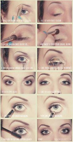 Natural eye makeup. Easy enough and practical
