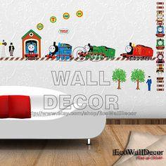 Amazon.com: Jiniy Thomas Kids Wall border Decals Deco Mural ...