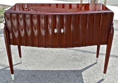 Period Art Deco Mahogany Credenza in Style of Emile-Jacques Ruhlmann | From a unique collection of antique and modern credenzas at http://www.1stdibs.com/furniture/storage-case-pieces/credenzas/