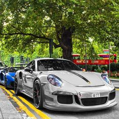 """134 Likes, 3 Comments - CARS... #iSpyCars (@ispycars) on Instagram: """"""""WATCH YOUR BACK"""" - Porsche 911 GT3 RS & Lamborghini Aventador SV  #iSpyCars. .  @hughbmedia. …"""""""