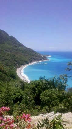 View of the Barahona shore in Dominican Republic.