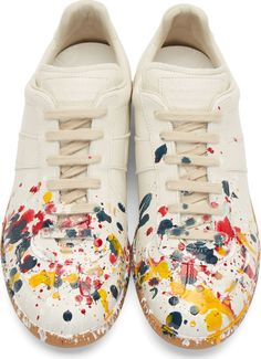 Maison Margiela Off-White Paint Splatter Replica Sneakers