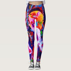 Viva KCRLS Leggings. 40% OFF Leggings – Use CODE: ZCYBERMONDAY until Midnight Tonight 11-27-17. Totally new. Totally now! Your legs will be trippin' groovy throughout the day when you set the trend with these intensely psychedelic leggings. The art is created from my Kinetic Collage Sweet Dreams psychedelic light show photos. Over 3000 products at my Zazzle store. Open 24/7 World wide! Unique items made just for you sent to your door…