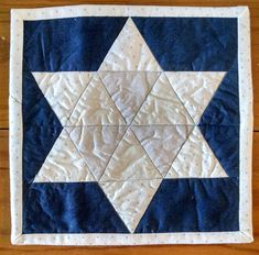 hanukkah star of david mini quilt from PDXstitch