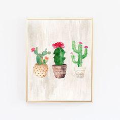 Cacti Art Print Printable Art Watercolor Cactus Hand Painted Watercolor  Botanical Decor Printable Wall Art Watercolor Cacti Art, House Plant | Cosy  Decor, ...