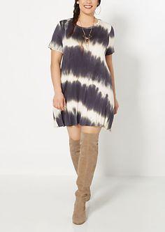 Plus Gray Tie-Dye Tent Dress | rue21