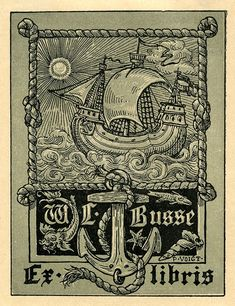 Bookplate of W. L. Busse