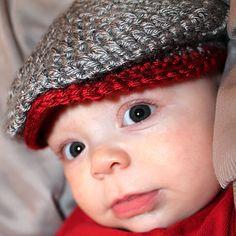 Crochet Wool or Acrlyic Boys Irish Donegal Golf Newsboy Golfing Newsie Newborn Infant Baby Hat Photo Photography Prop Baby Shower Gift, on Etsy- $18.00