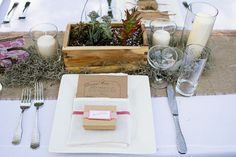 kraft box favors (just listed in Recycle Your Wedding)