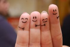Finger Love: I don't think a bad day can really sink in if this is drawn on your fingers.