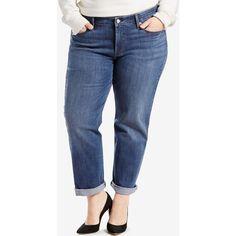 8c06cdd04c7 Levi s Plus Size Boyfriend Jeans ( 48) ❤ liked on Polyvore featuring plus  size women s
