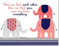 First We Had Each Other Elephant Nursery Art by SweetPeaNurseryArt