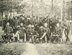 Union General Joseph Hooker (seated 2nd to right) and his staff, 1863.